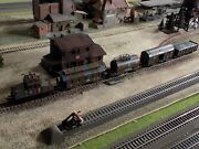 Fleischmann Wwii Military Electric Engine 6902 With Four Wagons Scale Ho