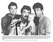 Tom Selleck And Steve Guttenberg 3 Men And A Baby Signed Auto 8x10 Photo Psa/dna Coa