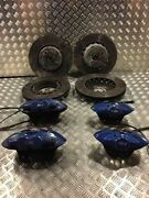 Genuine Oem Bmw M2 M3 M4 F80 F82 Blue Front And Rear Brake Calipers Discs Set