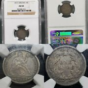 Very Nice 1873 W/ Arrows Seated Liberty Dime 10c Ngc Au-50 Kve Investments Llc