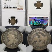 1833 Capped Bust Half Dime 1/2 10c Ngc G-6 Kve Investments Llc