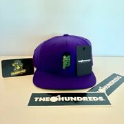 Cryptopunks X The Hundreds Exclusive Purple Snapback In Hand - Ships Today