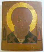 18th Century Russian Icon Of St. Nicholas Antique Museum Quality