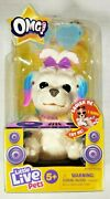 Little Live Pets Omg Pets Soft Pink/blue Ear Musical Shih Tzu With Bow Ages 5+