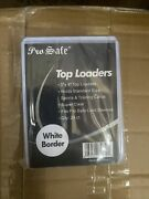 200 New White Border 3x4 Toploaders Toploader Top Loaders 4 Standard Size Cards