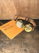 Rare Double Face Piece Nicol Watch,needs New Batterys.