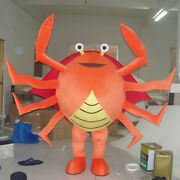 Halloween Crab Mascot Costume Suit Advertising Outfit Party Dress Fish Adults Us