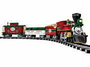 North Pole Central Battery Operated Train Set W/remote Control W/lights And Sounds