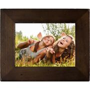 Polaroid - 8in Digital Photo Frame With Decorative Distressed Wood Frame