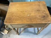 Great Grandma's Ye Old Antique Bowl And Pitcher,primitive Wooden Wash Stand