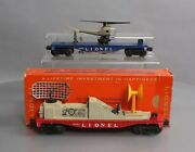 Lionel 3419 And 3540 Vintage O Assorted Flatcar W/helicopter And Radar Car [2]/box