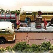 The N Scale Architect 10048 N Trackside Series Bus Stop Kit