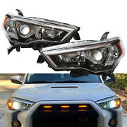For Toyota 4 Runner Suv 2014-2020 Factory Chrome Headlights Driving Lamps L+r