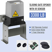 Sliding Gate Opener For Gates Up To 3300lbs With Remote Controls