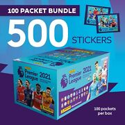 Panini Premier League 2021 Official Sticker Collection Sealed Box - 100 Packets