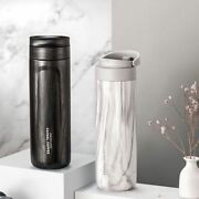 Vacuum Coffee Mug With Lid Portable Travel Leakproof Stainless Steel Thermos