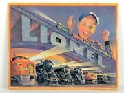 Lionel 1952 Catalog Cover Metal Tin Ad Sign Model Train Toy Picture Gift New