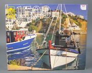 Golden Guild Jigsaw Puzzle 1500 Piece Fishing Boat Greece 4667b-41 New And Sealed
