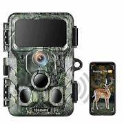 4k Native Wifi Trail Camera 30mp Wildlife Camera W Night Vision Motion Activated