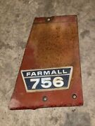 Ih Farmall 756 Right Hand Side Panel With Emblem G-1-2