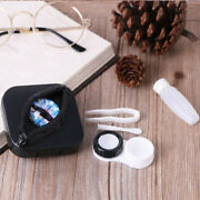 Portable Contact Lenses Storage Case Halloween Gifts Eyes Personality Lens Bw