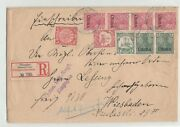 China 1902 Registered Cover Deutsche Post Shanghai To Germany, Mixed Franking
