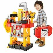 Pretend Play Series Transformable Workbench Toy Tool Play Set 83 Pcs Constructio