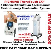 Richmar Theratouch Cx4 4-channel And Ultrasound Combo, Upgrade From Chattanooga