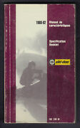 Bombardier Ski-doo Snowmobile Technical Specification Booklet 1988 To 1992