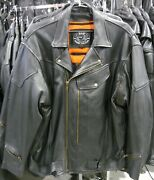 Zap Leather Victor Tall Men's Motorcycle Jacket Big Chest Wholesale Avail