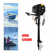 48v 5hp Electric Outboard Motor Fishing Canoes Boat Engine 1200w Long Shaft Usa
