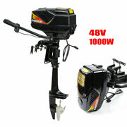 48v 1000w Electric Outboard Motor Inflatable Boat Engine Jet Pump 3000 Rpm