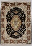 Extra Fine Classic Floral Collectible 5x7 Wool And Silk Area Rug Oriental Carpet