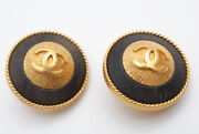 Coco Mark Round Earring 94p Gold P0665