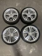 Audi S6 2016-2018 20x8.5andrdquo Oem Wheel 4g0 601 025 Bt 58977 Set Caps Tires Silver