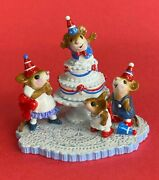 Wee Forest Folk Surprise M-2002 30th Anniversary Party Red White Blue Mice