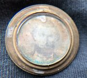 Early Daguerreotype Image In Small Ornate Locket Looks A Bit Like Lincoln