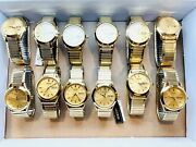 Lot Of 12 Menand039s Vintage 1996 Watch Seiko 7n43-9070. Stretchable Bracelet.