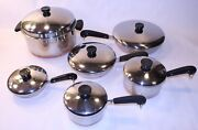 Revere Ware Stock Pots Pans Cooking Cookware Lot Set Copper Clad Pre-1968 Usa Ny