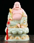 15and039and039 Green Marble Colored Drawing Auspicious Good Fortune Ruyi Maitreya Buddha