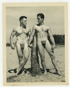 Bruce Of Los Angeles Gay Physique Beefcake 1950 Two Hunk Body Builders Q7048
