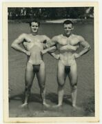 Bruce Of Los Angeles Gay Physique Beefcake 1950 Two Hunk Body Builders Q7049