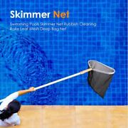 Hot Pool Skimmer Net Rake Deep Flat Leaf Fine Net Fish Pond Pools For Cleaning