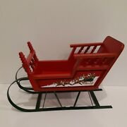 Wooden Christmas Sleigh 12 Inches Long
