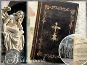 Small Embossed Antique German Bible Prayer Book 1844 Munchen Germany