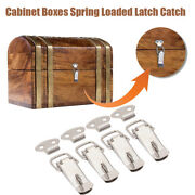 4pcs Stainless Steel Spring Loaded Toggle Box Trunk Catches Hasps Clamps