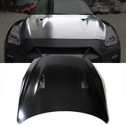 Fits 09-22 Nissan R35 Gtr Facelift Style 17+ Front Hood Replacement - Aluminum