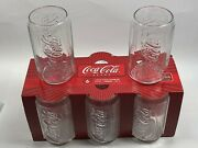 Coca Cola Can Shaped Glasses Tumblers Embossed Set Of 8