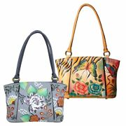 Anna By Anuschka Womenand039s Large Organizer Tote Handpainted Leather