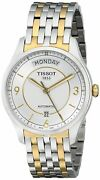 Tissot Menand039s T-one Silver Dial Two Tone Watch - T0384302203700 New